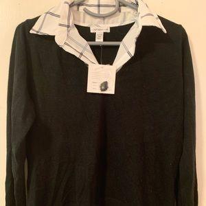 Croft & Barrow Collared Sweater Blouse